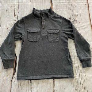 Gap Kids Gray Henley Sweatshirt